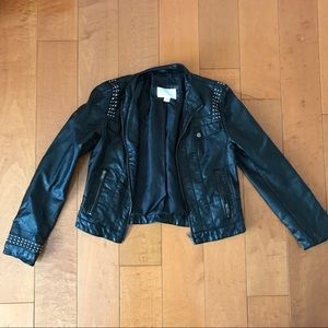 Studded Black Motorcycle Jacket